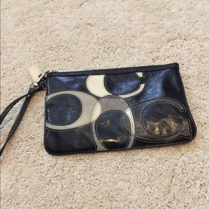 Coach leather wristlet and large C